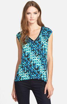 Ro & De Cap Sleeve V-Neck Tee available at #Nordstrom