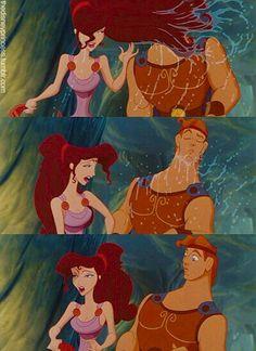 """Hercules & Meg """"The name's Megara, but my friends call me Meg. Disney Pixar, Walt Disney, Disney Memes, Disney Girls, Disney Animation, Disney Love, Disney Magic, Disney Princess, Disney Characters"""