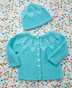 Seed Stitch Baby Set...free pattern