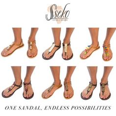 Caramel Leather T-Strap Accent Sandal | Sseko Designs, 60. Interchangeable designs for t-strap, 15-20 each. Um, I think I love these.