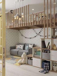 30 ideas and furnishing tips for the nursery - Kinderzimmer – Babyzimmer – Jugendzimmer gestalten - Baby Boy Rooms, Baby Bedroom, Baby Room Decor, Kids Bedroom, Bedroom Decor, Room Baby, Loft Bedroom Kids, Bedroom Modern, Bedroom Neutral