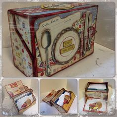 Hi All -- here is a peep of Yummy, Tummy 4 my Hunny. I named this project Yummy, Tummy 4 my Hunny because. Scrapbooking Layouts Vintage, Vintage Scrapbook, Mini Scrapbook Albums, Scrapbook Paper, 3d Paper Crafts, Book Crafts, Hobbies And Crafts, Scrapbook Recipe Book, Recipe Book Design