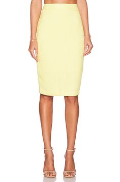 BLAQUE LABEL BLAQUE LABEL Woven Pencil Skirt in Yellow