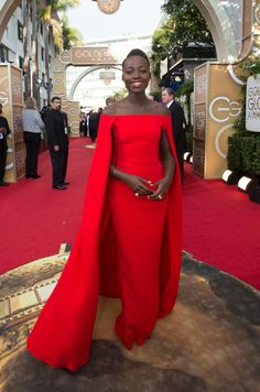 "Lupita Nyong'o nominated for BEST PERFORMANCE BY AN ACTRESS IN A SUPPORTING ROLE IN A MOTION PICTURE for her role in ""12 YEARS A SLAVE"""