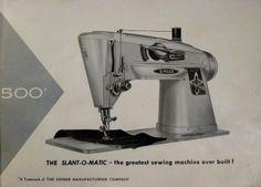 "BrianSews!: Singer Slant-O-Matic 500a the ""Rocketeer"""
