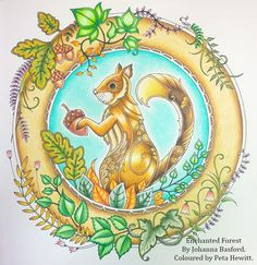 The Owl and the Squirrel from Enchanted Garden – La Artistino – Peta Hewitt