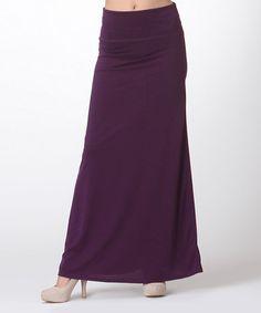 Look what I found on #zulily! Plum Maxi Skirt #zulilyfinds