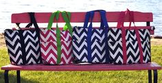 Colorful Chevron Insulated Lunch Purses!