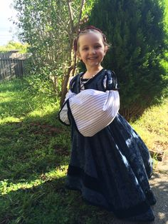 Xanthe in Spanish frock