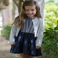 Every girl needs a party dress! The navy Fox & Finch Brittany dress has embroidered embellishment on the front. Fox & Finch an es Tutus For Girls, Every Girl, Dress For You, Brittany, Dress Skirt, Party Dress, Fox, Navy, Skirts