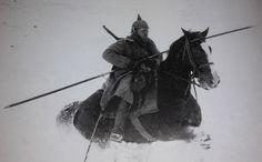 WW1. German cavalry, East Front