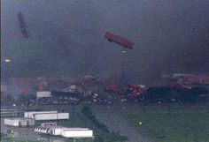 Tornadoes sweep across North Texas. HD Chopper 8 captured this amazing image of large semi-trucks and tractor trailers being thrown through the air by a tornado near Lancaster, TX, Tuesday (04/03/12) afternoon.