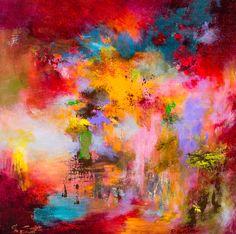 Rikka Ayasaki, Passions 89, 50x50cm, 2015, acrylic on canvas