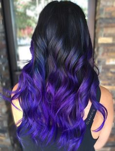 Blue+And+Purple+Balayge+For+Black+Hair