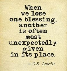 cs lewis quote blessings
