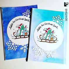 #Jouluntaikakortti - 9  homemade paper crafting christmas cards with penguins