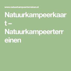 Natuurkampeerkaart – Natuurkampeerterreinen