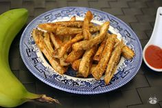 Airinie Cooks: Her Eclectic Kitchen: 'Fried Green Bananas' Fries