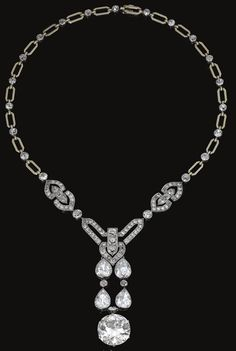 Diamond Necklace by Chaumet, cicra 1915.