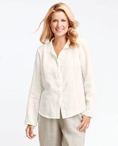 FLAX Design's Neutral FLAX 2016 Victoria Barkley at Fg Clothing. #FLAXdesign women's linen button up Victoria Barkley