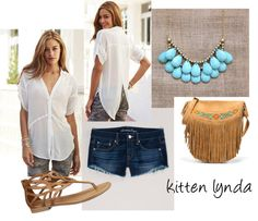 """simple white shirt"" by kittenlynda on Polyvore"