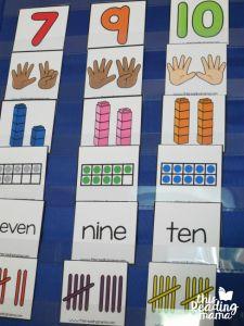 number sorting cards - sorting in a pocket chart Teaching Numbers, Numbers Kindergarten, Numbers Preschool, Math Numbers, Teaching Math, Math Stations, Math Centers, Preschool Centers, Math Games