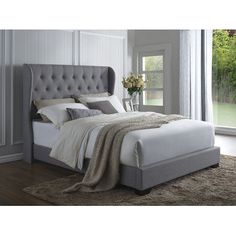 House of Hampton Southampton Upholstered Panel Bed