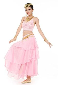 9fa5999001 Amazon.com: Beverly Women's Five Flowers Belly Dance Costume Set, 3 Pieces:  Clothing