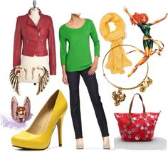 Fashionable Fangirl: Casual X-Men: Jean Grey