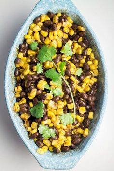 MEXICAN BLACK BEAN and CORN SALSA that takes 2 MINUTES to make! This easy salsa recipe is full of fresh Mexican flavor! Serve with chips or as a salad.