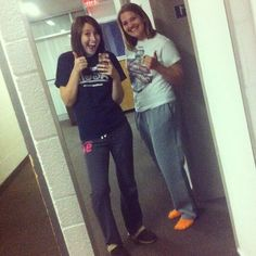 2nd night of college! #aggie #utahstateuniversity #roommates @Brittany Little