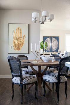 Schöne Wohnideen Für Das Esszimmer Akzentwand Und Dunkler Boden