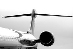 Luxury Tail _ Detail of a private jet _