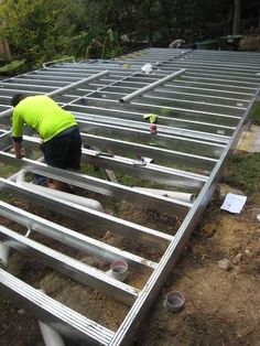 Construction has commenced on this granny flat- using Spantec Boxspan Steel Floor Framing- Lindfield NSW