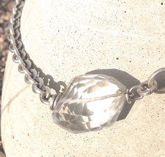 Clear Natural Quartz Statement necklace
