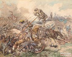 Juliusz KOSSAK ● Cherubin Gniewosz w bitwie pod Suczawą w 1497 r. ●