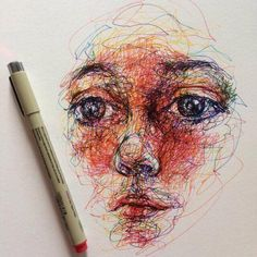 Find images and videos about art, drawing and draw on We Heart It - the app to get lost in what you love. Art Sketches, Art Drawings, Street Art, Scribble Art, Illustration Art, Illustrations, Ap Art, Art Sketchbook, Portrait Art