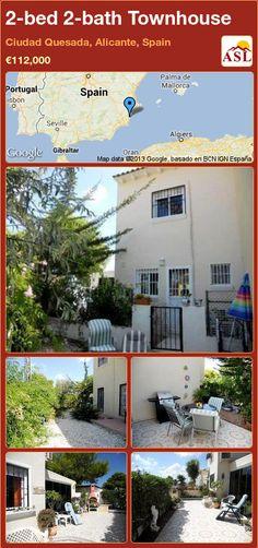2-bed 2-bath Townhouse in Ciudad Quesada, Alicante, Spain ►€112,000 #PropertyForSaleInSpain