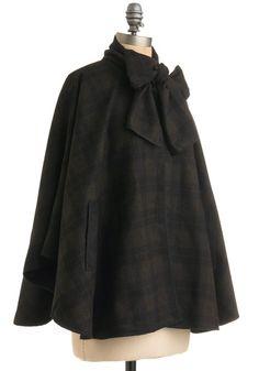 tartan cape - Modcloth