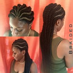 Stunningly Cute Ghana Braids Styles For 2017. Side BraidsBraids CornrowsGhana  BraidsAfrican BraidsBox ...