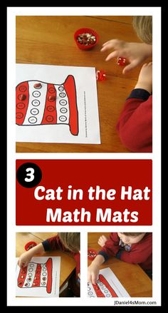 Free Cat in the Hat Math Activity Mats from Daniel4's Mom