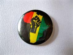 Raised Fist Solidarity Black Power 1.25'' by bohemianapothecarium, $1.50