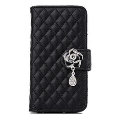 For Samsung Galaxy S5 i9600 Fullkang Rhinestone Bling Flip Wallet Leather Case Black -- Click image for more details. Note:It is Affiliate Link to Amazon.