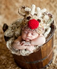 BBB Reindeer Hat The Perfect Newborn Christmas Photo Prop! - Newborn Christmas Outfits - Cassie's Closet