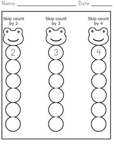 Skip Counting Packet: 2s, 3s, 5s, 10s and 100s Worksheet