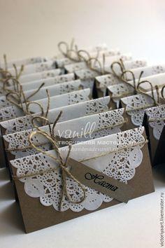 """Купить Рассадочные карточки """"Рустик"""" - крафт, рустикальный стиль, рустик, карточки для рассадки, карточки на столы мой сайт handmadevanill.ru"""