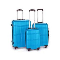 SET 3 VALISES ABS KINSTON SYNTHETIQUE BLEU