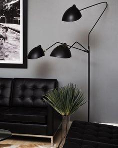 Standing lamp three rotating arms - Studio Kvänum Oslo AS