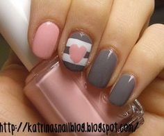 If we decide on grey & pink, we can paint your nails to match the shower Net. ♥