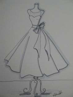 x Custom Wedding Dress Illustration croquis Dress Design Drawing, Dress Design Sketches, Fashion Design Sketchbook, Fashion Design Drawings, Sketch Design, Fashion Illustration Sketches, Fashion Sketches, Dress Drawing Easy, Art Sketchbook